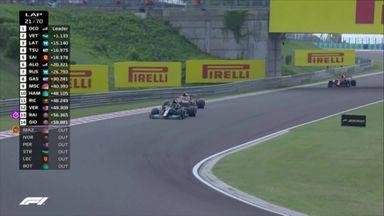 Hamilton undercuts Verstappen