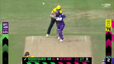 Rodrigues scores her second fifty