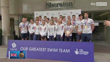 GB's most successful swimming squad return home