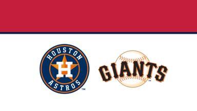 MLB: Astros @ Giants