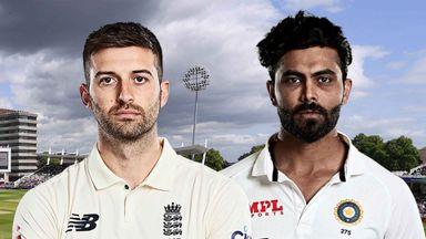 England v India 1st Test D2 Hlts