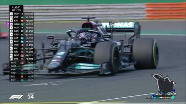 Hamilton into the podium places