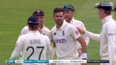 Anderson takes the wicket of Pajura