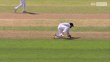Sibley falls for short midwicket trap
