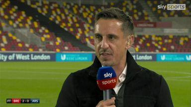 Neville: Brentford bullied Arsenal tonight