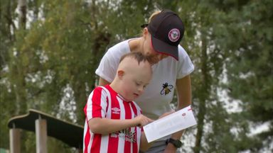 Young Brentford fan's moment to remember
