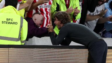 Frank sends message to young Brentford fan