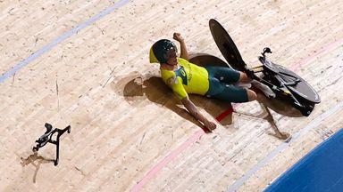 Aussie cyclist crashes as handlebar falls off