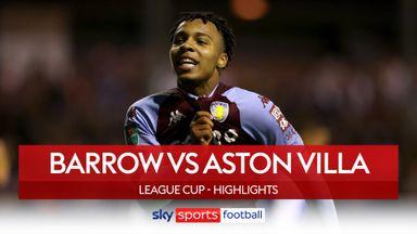 Barrow 0-6 Aston Villa