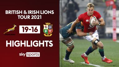 South Africa 19-16 British Lions