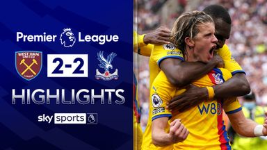 Palace fight back twice to hold Hammers