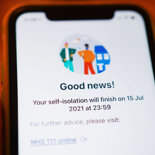 NHS Test and Trace app being updated to ping fewer people to isolate