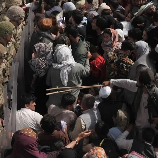 Clock is ticking for thousands queuing to escape as Taliban beat Afghans with canes