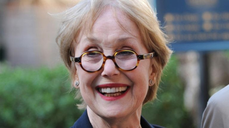 Actress Una Stubbs arrives for the service of celebration and thanksgiving for the life of writer Keith Waterhouse at St Paul's Church, London.
