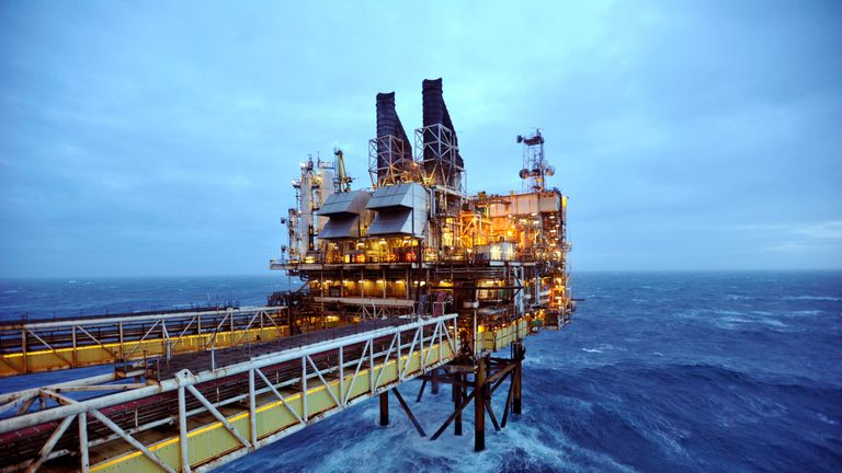 A section of the BP Eastern Trough Area Project (ETAP) oil platform is seen in the North Sea, around 100 miles east of Aberdeen in Scotland February 24, 2014. REUTERS/Andy Buchanan/pool/File Photo