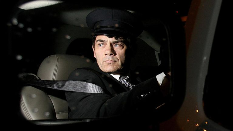Gerry Hutch pictured in his wing mirror of the stretch limo who collected former Heavyweight Boxing Champion Tyson accompanied by Irish Boxer Joe Egan arriving at Dublin Airport for a scheduled Gala Event of Boxing over the weekend. PRESS ASSOCIATION Photo. Photo credit should read: Julien Behal/PA