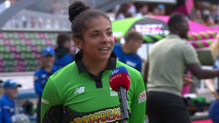Brave captain Sophia Dunkley said she's learning lots from coach Charlotte Edwards and is pleased with how the team are shaping up