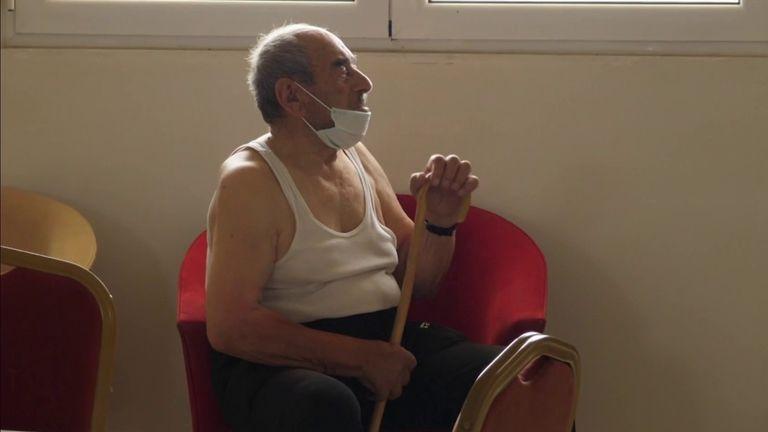 Greek elderly resident