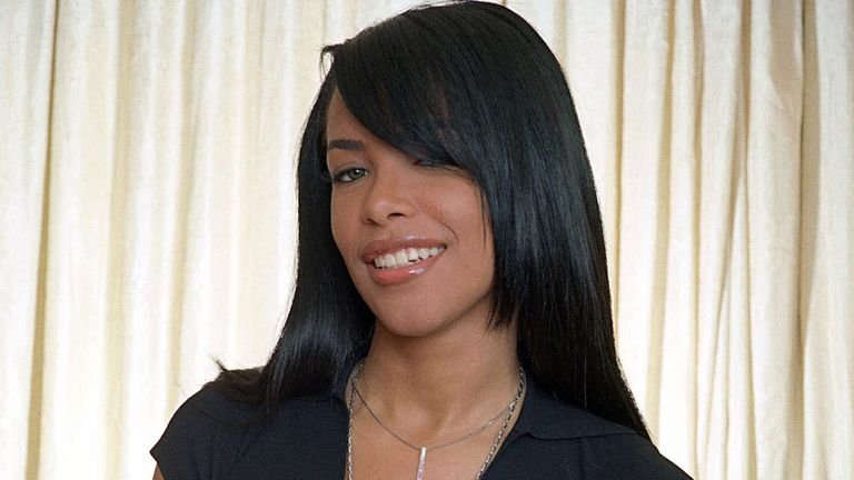 R&B singer and actress Aaliyah pictured in 2001. Pic: AP