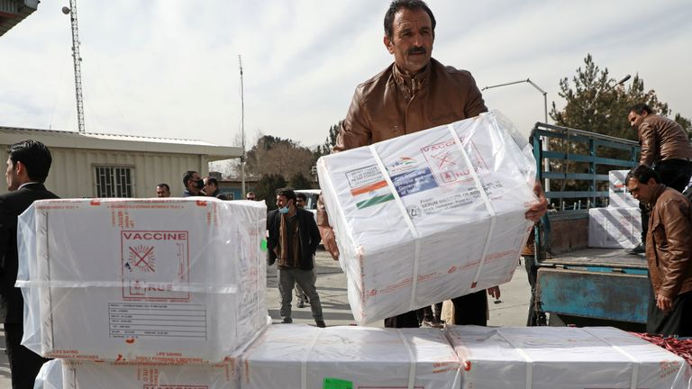 In the week before the Taliban took control of Kabul, 134,500 people were vaccinated by last week just over 30,000 had been inoculated