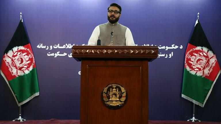 Afghanistan's National Security Advisor Hamdullah Mohib in 2019