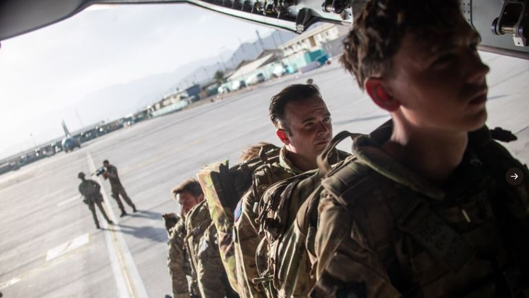 The final flight carrying UK troops has left Kabul. Pic: MoD