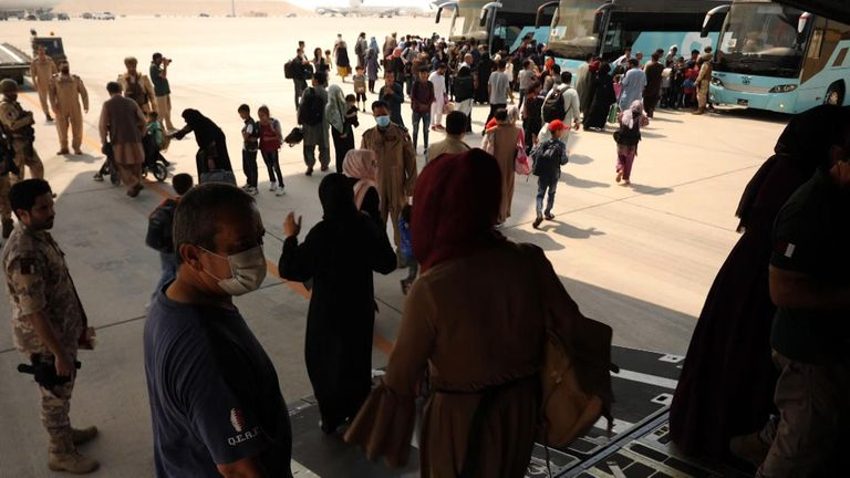 It is a three hour flight from Kabul to Qatar