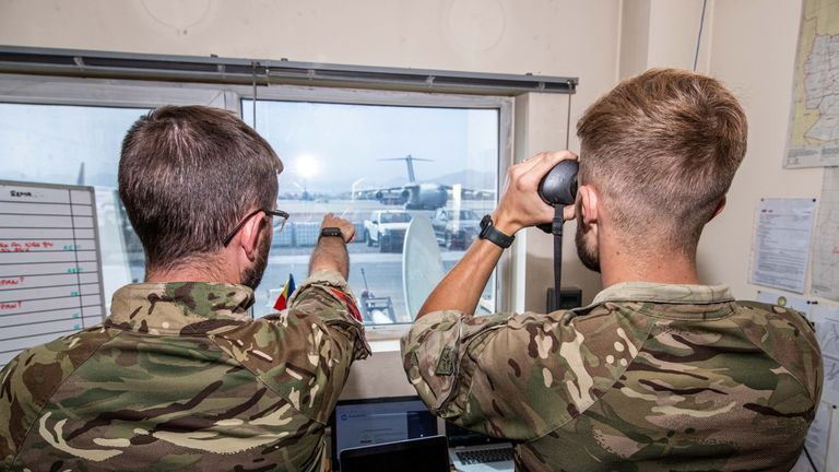 UK Armed Forces evacuating people form Kabul Airport