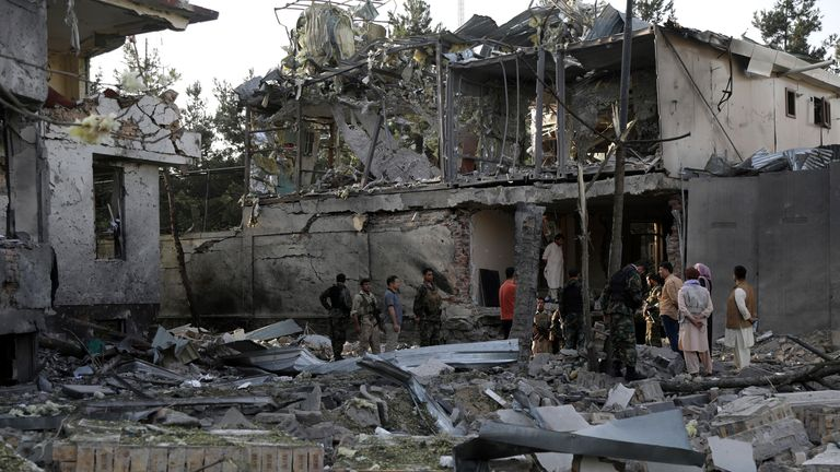 Kabul, Afghanistan. Pic: AP