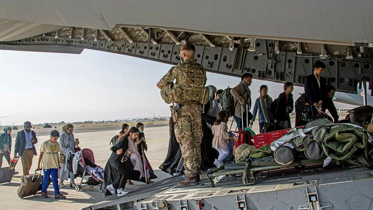 The British government has sent troops back to Afghanistan to help evacuate British nationals, but Paul Farthing's wife and employee have not managed to board a flight