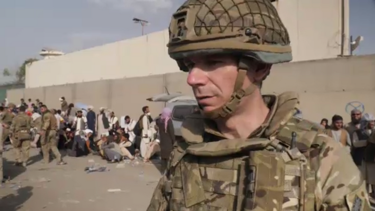 Lt Col Will Hunt said soldiers have put thoughts of 'previous tours aside' to work with the Taliban on restoring order