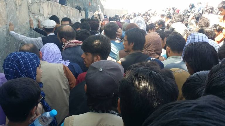 The interpreter was among the crowd gathered outside Kabul's airport before Thursday's terror attack