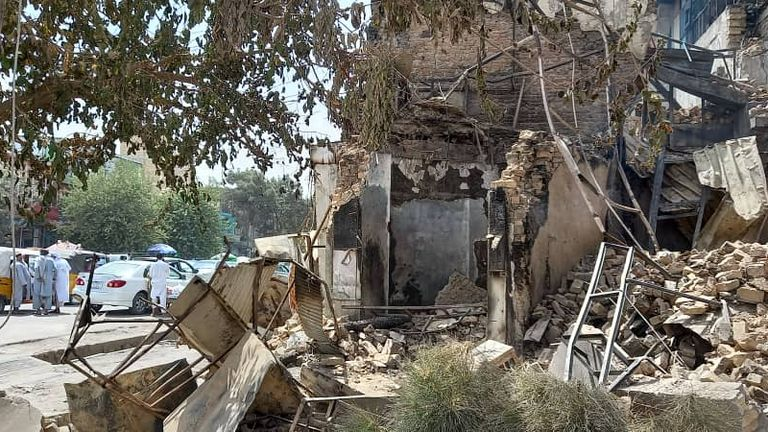 The Taliban destroyed the family's home in Kunduz, northern Afghanistan