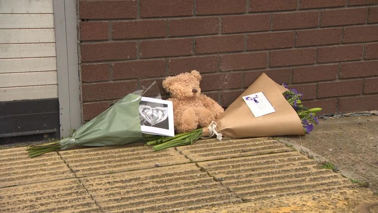 Floral tributes at the Metropolitan Hotel Sheffield, where an Afghan refugee, 5, died after falling from a window