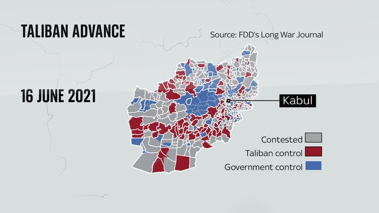 The Taliban has been slowly gaining more territories, forcing thousands to flee into neighbouring Iran and Pakistan
