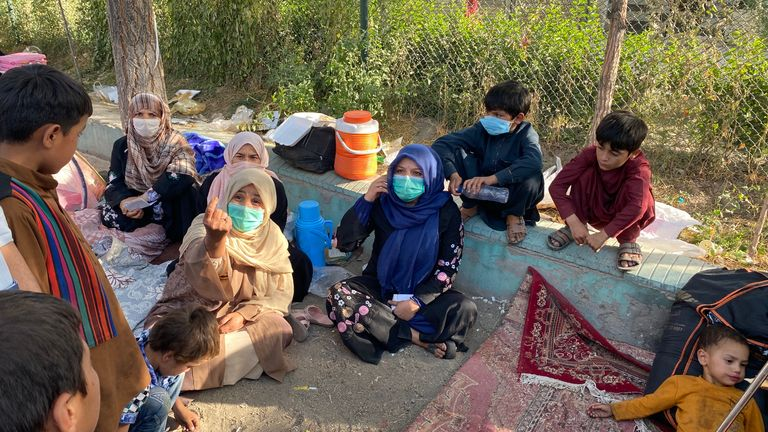 In one Kabul park, there are over 12,500 displaced people