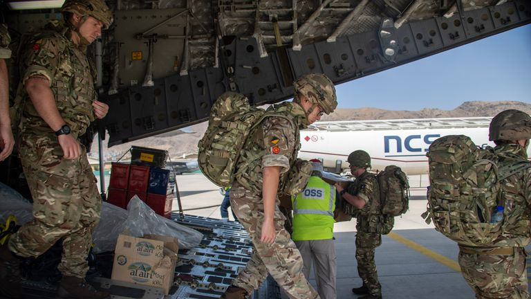 British troops land in Afghanistan. Pic: MoD