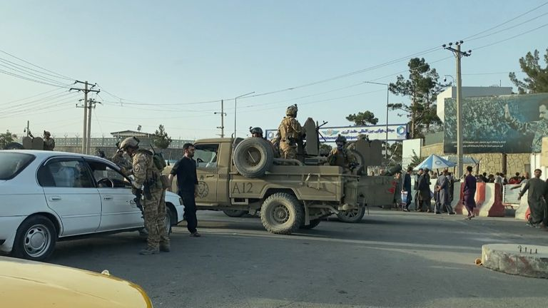 Taliban March past Sky News Correspondent Reporting from Kabul