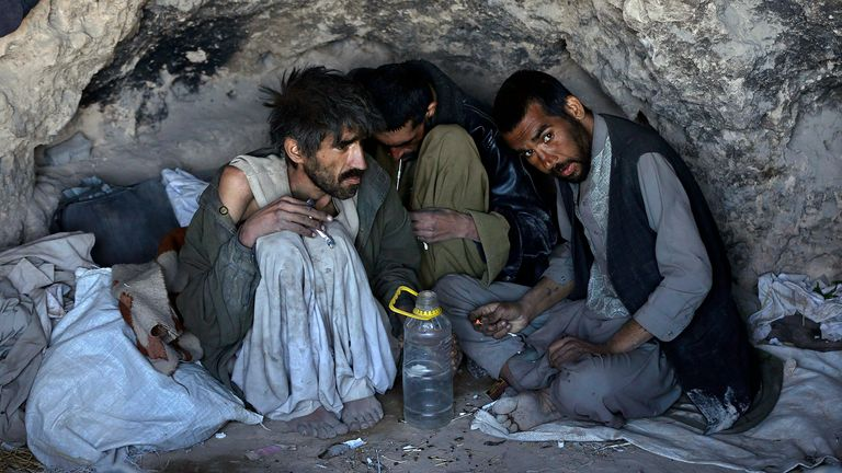 An increasing number of young Afghans are heroin addicts