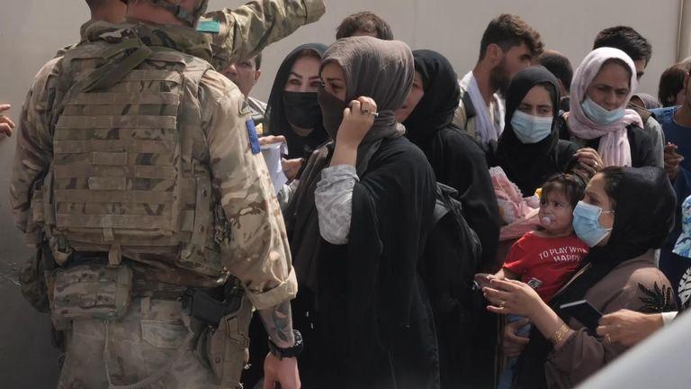 British troops at Kabul airport