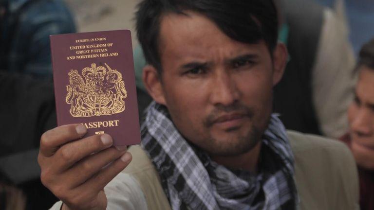 Britons at Kabul airport