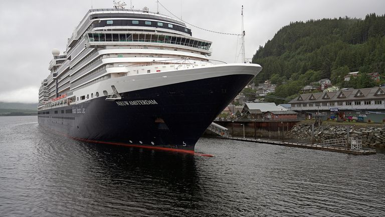 The cruise ship docked in Ketchikan, Alaska and offered sightseeing excursions to passengers whilst in port. Pic AP