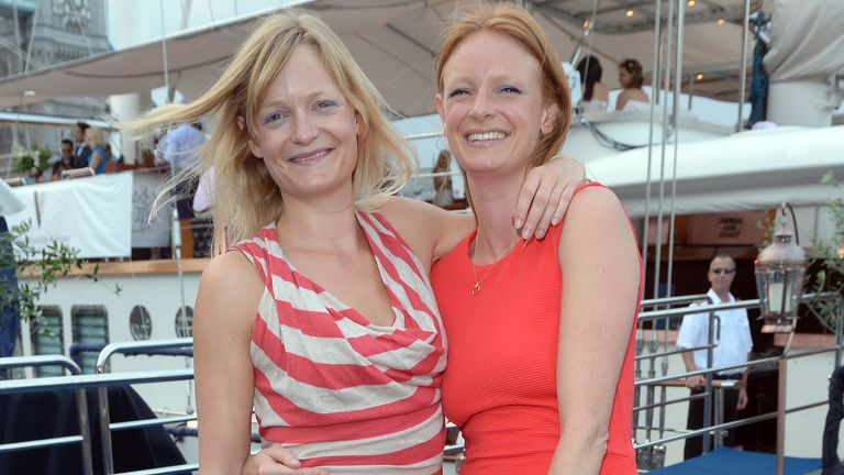Alexia Inge (l) co-founded Cult Beauty in 2007. Pic: AP