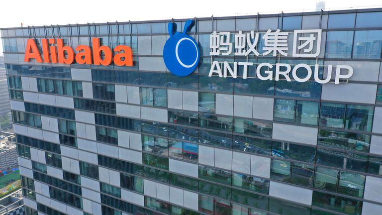 Alibaba's offices in Nanging, Jiangsu province. Pic: AP