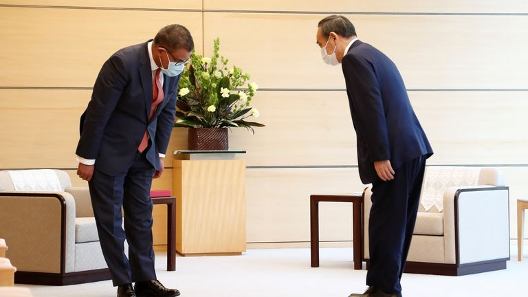 In April, Alok Sharma visited Japan's prime minister in Tokyo. At the time, the government had placed the capital in a state of emergency due to rising COVID-19 cases