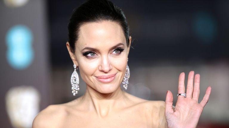 Angelina Jolie attending the EE British Academy Film Awards held at the Royal Albert Hall, Kensington Gore, Kensington, London.