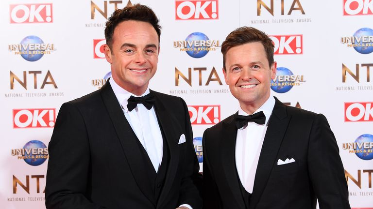 Ant and Dec at the NTAs in 2020. Pic: David Fisher/ Shutterstock
