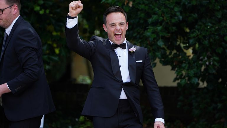 The BGT presenter was in high spirits after the ceremony