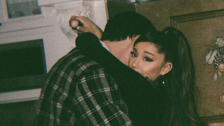 Ariana Grande married estate agent Dalton Gomez during a secret ceremony in May. Pic Instagram/Ariana Grande