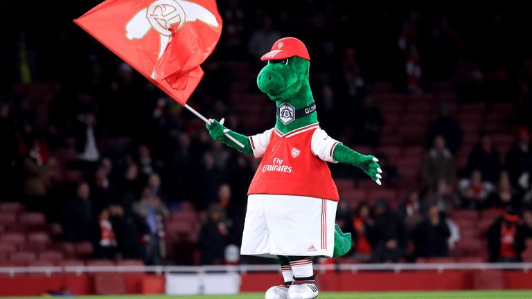 Arsenal mascot Gunnersaurus was among 55 employees made redundant during pandemic
